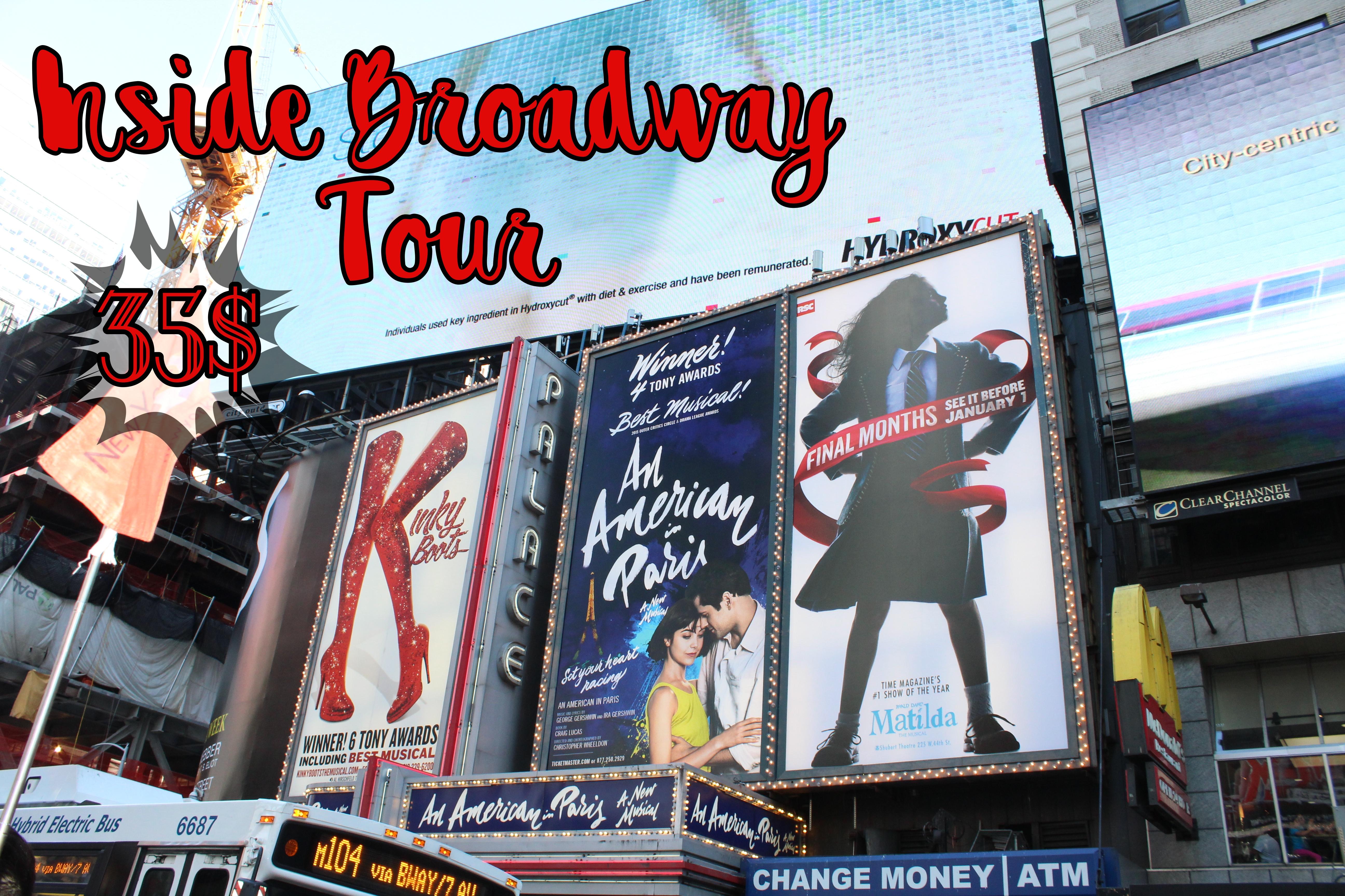 precio tour broadway