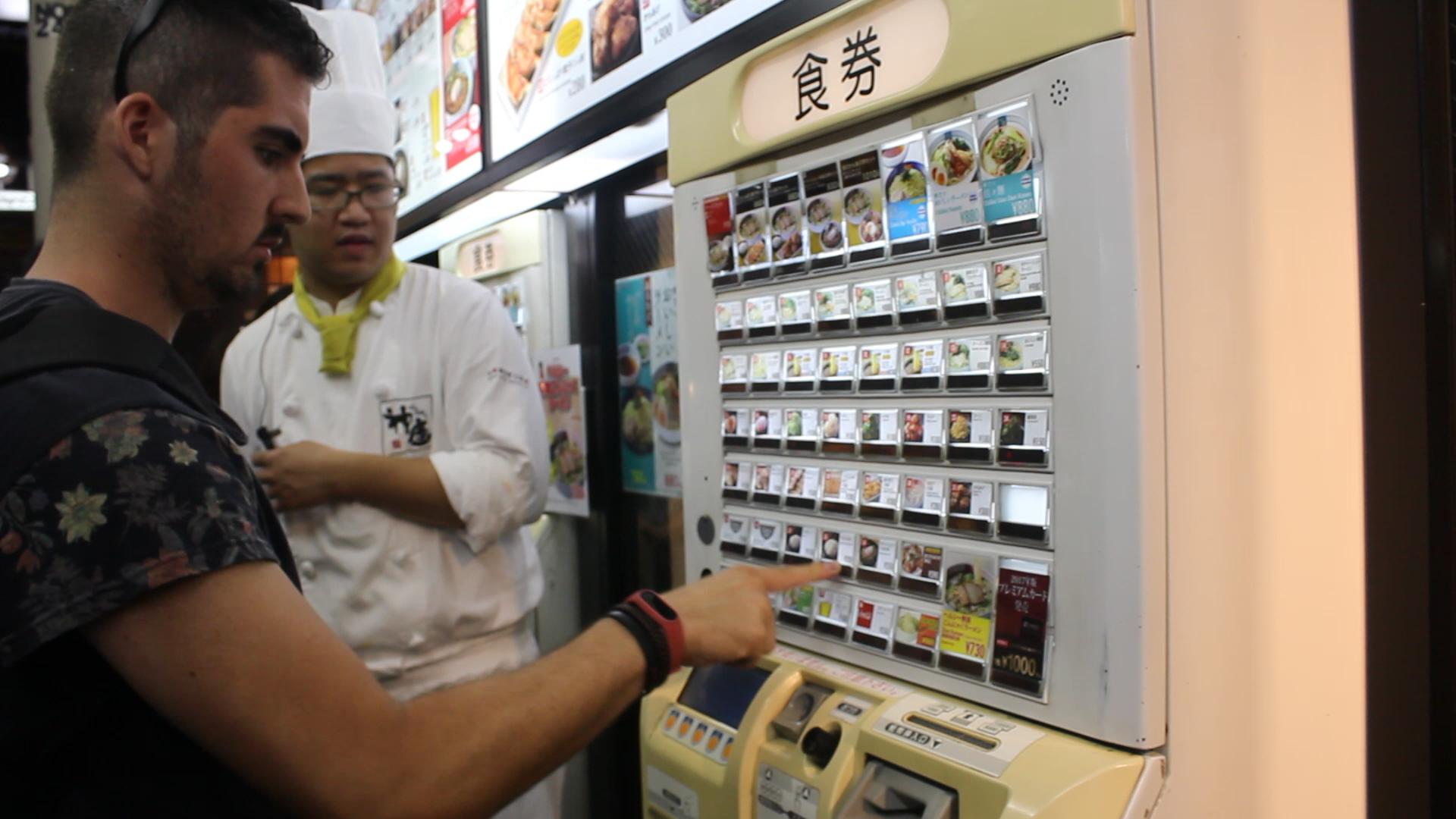 maquina comida tokyo